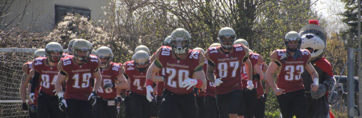 Einlauf des Teams gegen die Spartans